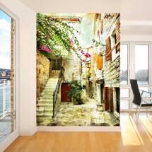 Wallpaper Old Street of Greece 1