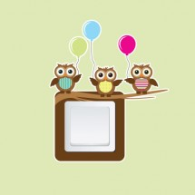 Owls with balloons Switcher