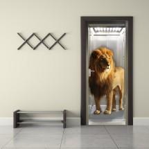 Lion in elevator