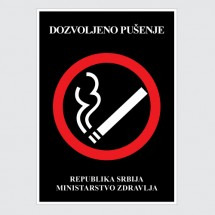 Nalepnice Dozvoljeno pušenje Latinica