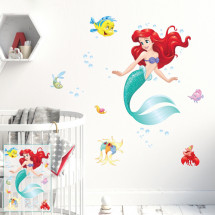 Little mermaid and fishes