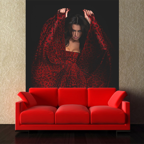 Fototapeta Red Dress
