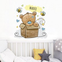 Teddy bear in the box