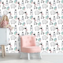 Wallpaper Bear elephant giraffe