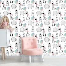 Wallpaper Bear elephant giraffe