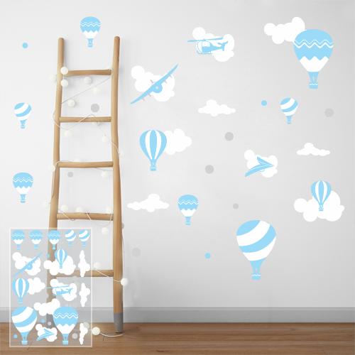 Air balloons - blue
