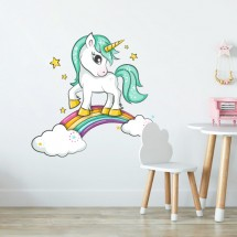 Unicorn on the rainbow