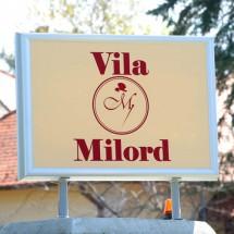 Svetlece reklame vila Milord